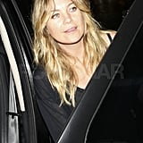 Ellen Pompeo jumped in her car after dinner in LA.