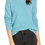 Something Navy Flecked Crewneck Sweater