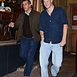 In September 2011, Prince Harry kept it casual in jeans and a blue shirt while leaving the Public nightclub in London.