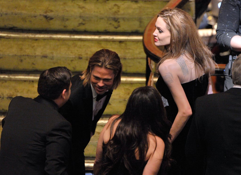 The Moneyball gang takes their seats at the 84th Academy Awards.