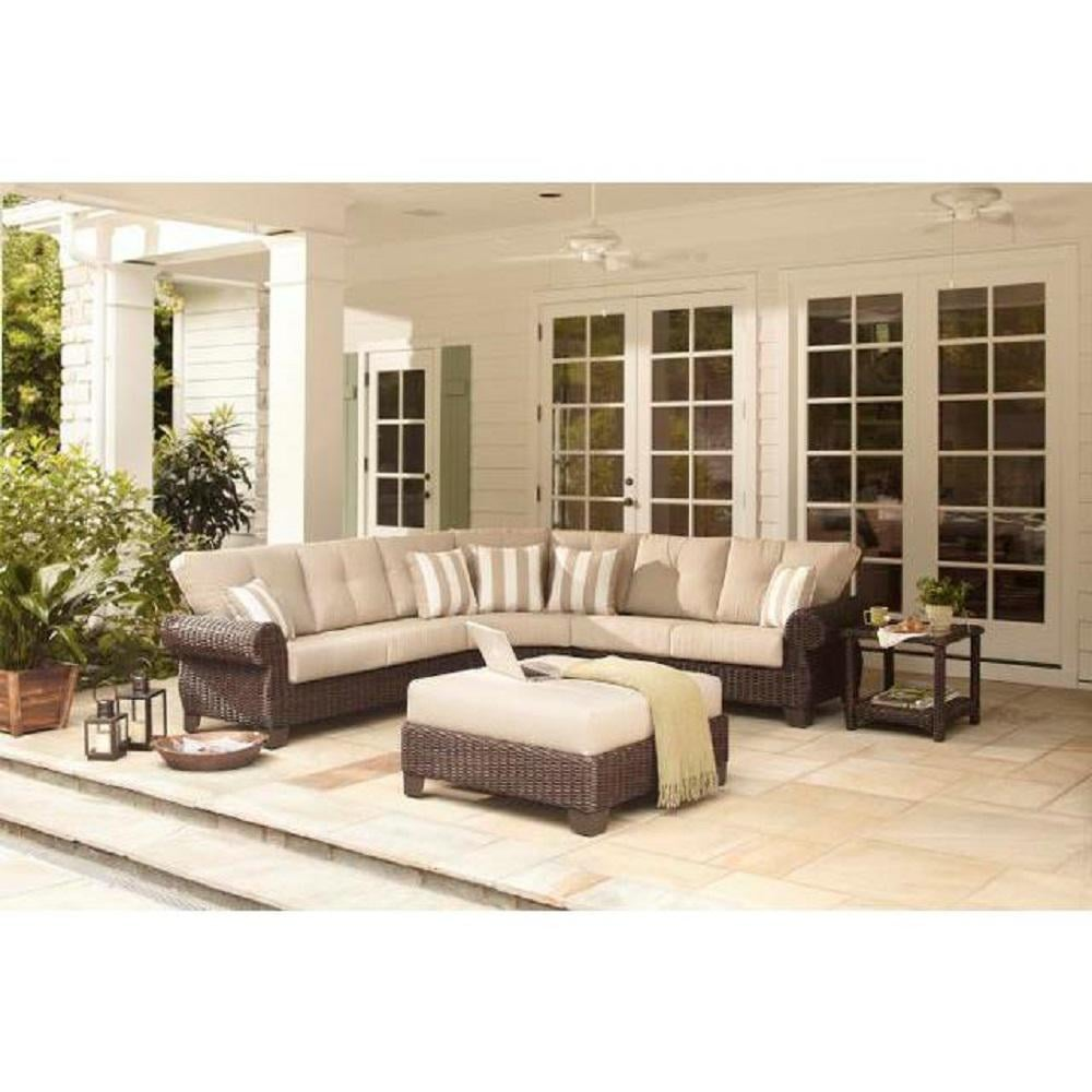 Hampton Bay Mill Valley 4-Piece Patio Sectional Set