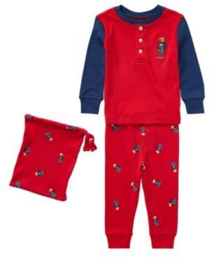 Martin Pajama Bear Set Lauren Cotton Red 9mKids Polo Ralph pqSMUzV