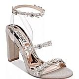 Alternative: Badgley Mischka Adel Crystal-Embellished Block Heel Sandals