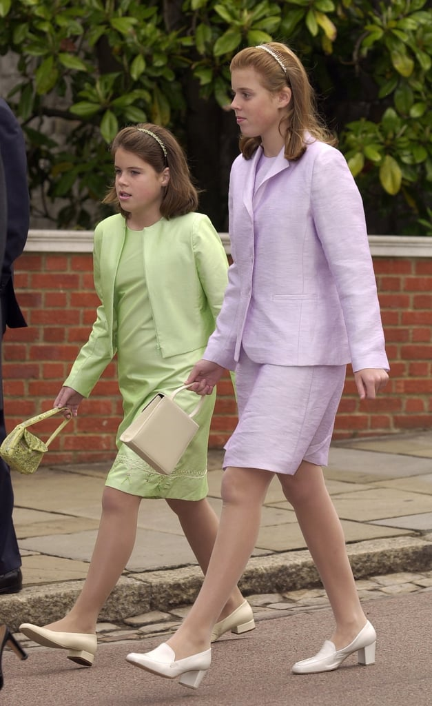 Princess Eugenie and Princess Beatrice at Church on Prince Philip's 80th Birthday