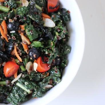 Sesame Ginger Kale and Quinoa Salad Recipe