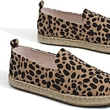 Clare V. Leopard Heritage Canvas Deconstructed Alpargata Shoes