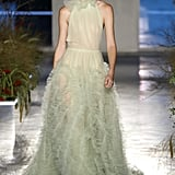 A Green Feathered Dress From the Jason Wu Runway at New York Fashion Week