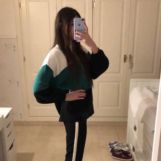 Girl Wearing Striped Pants Optical Illusion