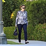 Jennifer Garner left a meeting in LA.