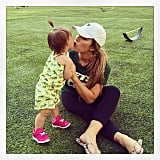 """Kisses with my sweet baby at daddy's event #family #myworld."""
