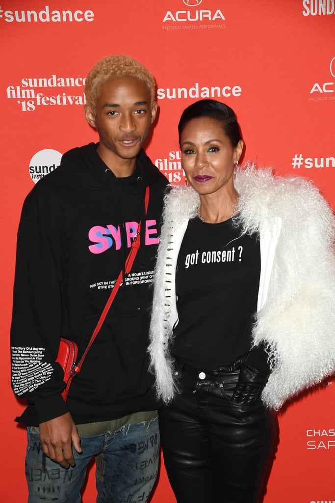 Jada Pinkett Smith and her 19-year-old son, Jaden, looked all sorts of cool when they hit up the Sundance Film Festival on Monday. Jada was on hand to support Jaden, who was premiering his new film, Skate Kitchen, and the duo were joined by the film's director, Crystal Moselle. Unfortunately, Will and Willow weren't in attendance, but back in April 2017, the former Fresh Prince of Bel-Air did help Jaden prepare for his role by chopping off his blond dreadlocks. Will and Jaden also had a cute father-son date at the LA premiere of Brighter in December 2017. Serious question: could these two be any cooler?       Related:                                                                                                           Jaden Smith Is the Spitting Image of His Mom in This Side-by-Side Snap