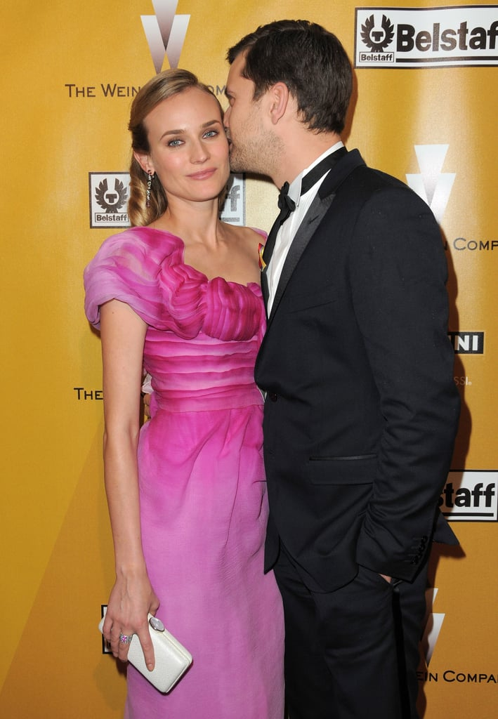 Joshua Jackson kissed Diane Kruger at a Golden Globe after party in LA in January 2010.