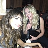 Pals Chelsea Handler and Whitney Cummings showed off their smiles on Friday evening in LA. Source: Instagram user therealwhitney