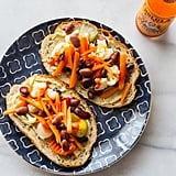 Hummus Toast With Pickled Vegetables