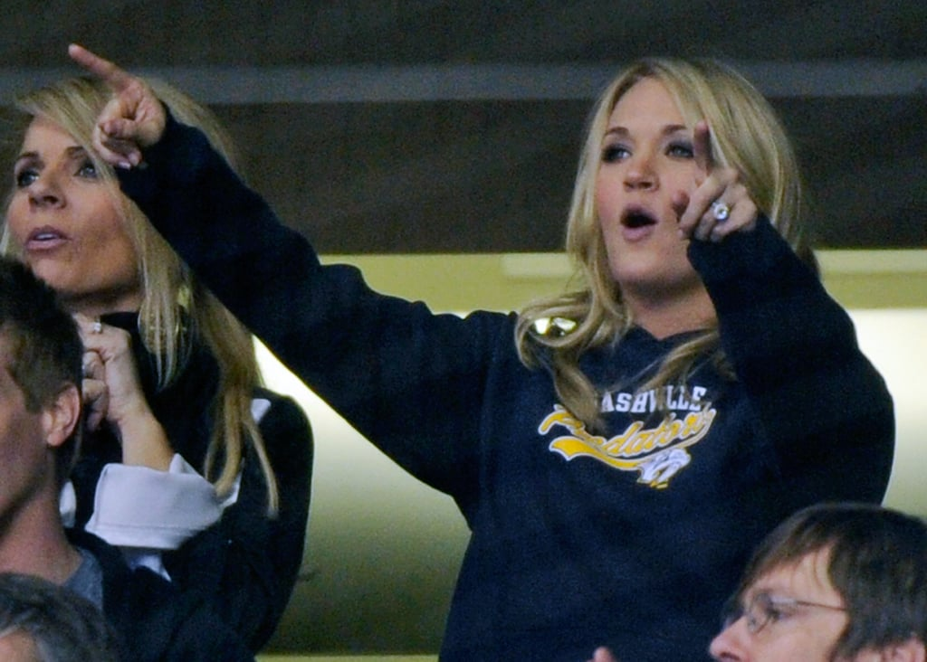 Pictures of Carrie Underwood at Mike Fisher's Hockey Game in Nashville | POPSUGAR Celebrity