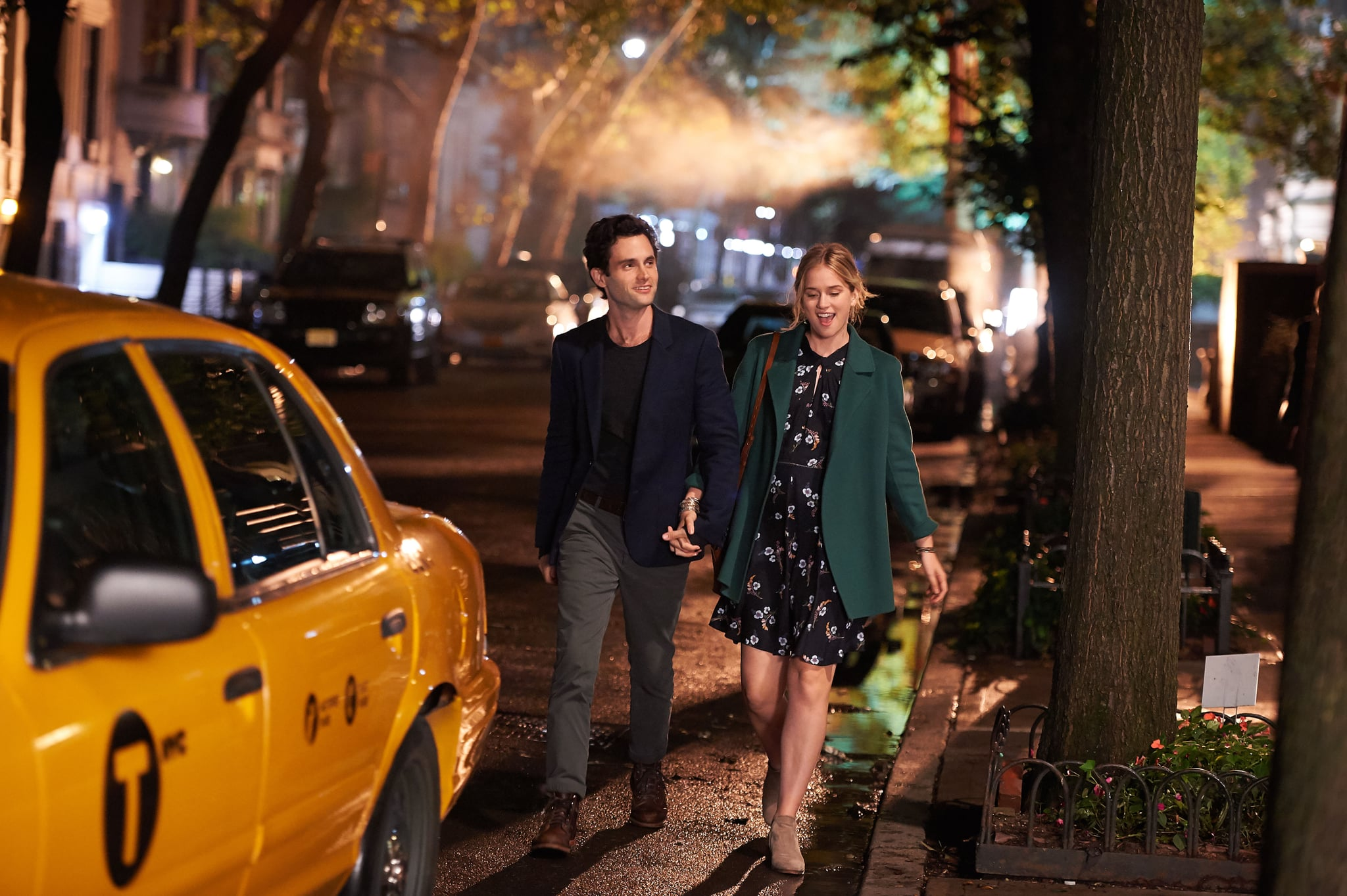 YOU, from left: Penn Badgely, Elizabeth Lail in 'The Last Nice Guy in New York', (Season 1, Episode 102, aired September 16, 2018).  Lifetime / courtesy Everett Collection