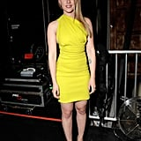 Scarlett donned a neon yellow minidress while attending Spike TV's Guys Choice Awards in 2010.