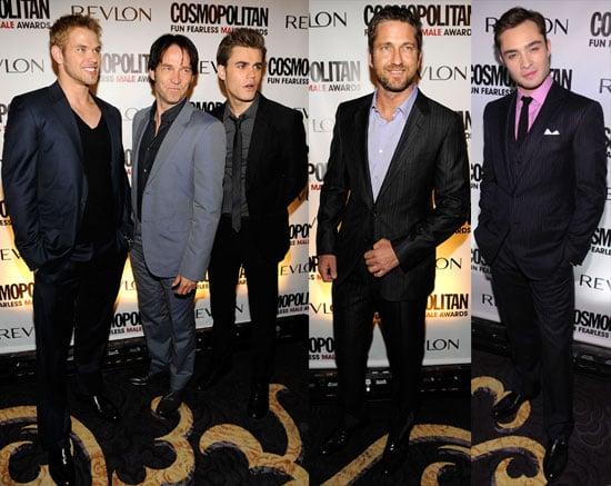 Photos of Kellan Lutz, Paul Wesley, Ed Westwick, Gerard Butler and Stephen Moyer at Cosmopolitan Party