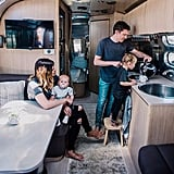 "Navigating around each other in 215 square feet means we have to be really aware of one another. ""The biggest change has been the way we've grown as a family. We have adventures together that bring us closer, and being in such a small space has forced us to be really intentional with our time as a couple and with the littles,"" Tiffany told POPSUGAR of the best part of RV life so far. ""Even the kids, as young as they are, are really connecting in this season. The space has also taught us to communicate really well; navigating around each other in 215 square feet means we have to be really aware of one another. Living more simply has helped [Jacob and I] prioritize our lives better, and we've also grown more and more adaptable."" That's not to mention the fact that living in a vehicle means being able to roam around and travel endlessly. Because Jacob works as a graphic designer and Tiffany sells essential oils, the pair were able to take their careers on the road and have a truly unique experience. ""The adventure of it has been amazing. We've seen so many amazing things during our stays in various places, and the driving days have a been a gift as well; we've gotten to see things that you can't find on postcards, the in-between places that are beautiful in their own ways."""