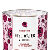 Bath and Body Works Rose Water Meringue 3-Wick Candle
