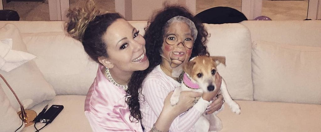 Mariah Carey's Spa Night With Daughter Monroe Pictures 2018