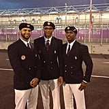 USA players Chris Paul, Deron Williams, and Russell Westbrook looked dapper in their Ralph Lauren uniforms.  Source: Instagram user cp3