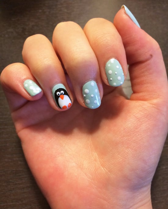 Penguin Nail Art Tutorial | POPSUGAR Beauty