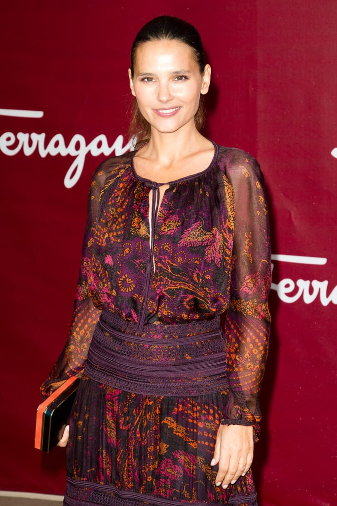 Virginie Ledoyen attended the Salvatore Ferragamo Resort collection show in Paris.