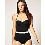 Contrast Bow Swimsuit
