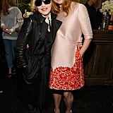 Stella McCartney and Madonna look nice and cosy together, don't they!