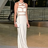 Erin Wasson's white custom Alexander Wang gown covered her up and revealed in all the right places.
