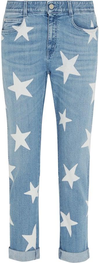 Stella McCartney Star Printed Mid-Rise Slim Boyfriend Jeans ($425)