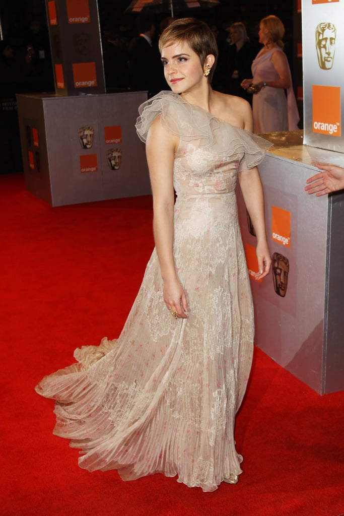 Pictures of Emma Watson on BAFTAs Red Carpet 2011