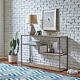 Rivet Mid-Century Modern Wood and Metal Bookcase
