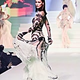 Bella Hadid on the Jean Paul Gaultier Runway