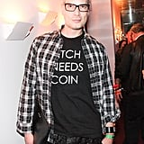 Cameron Silver made a statement in his graphic tee at the LA launch of Martone Cycling.