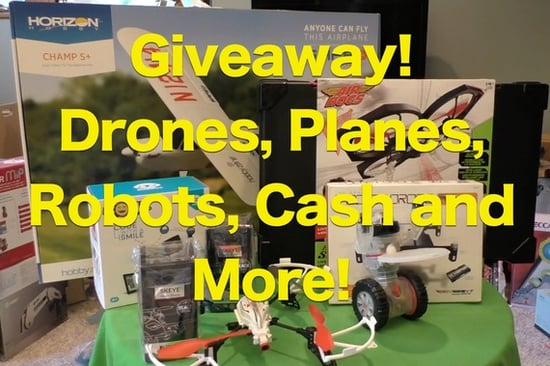 Win The Coolest Drones, Robots, Planes and Gadgets of 2016