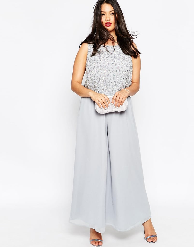 05e4e6ea5009 Asos Curve Premium Jumpsuit With Palazzo Pants And Embellished Overlay ( 66)