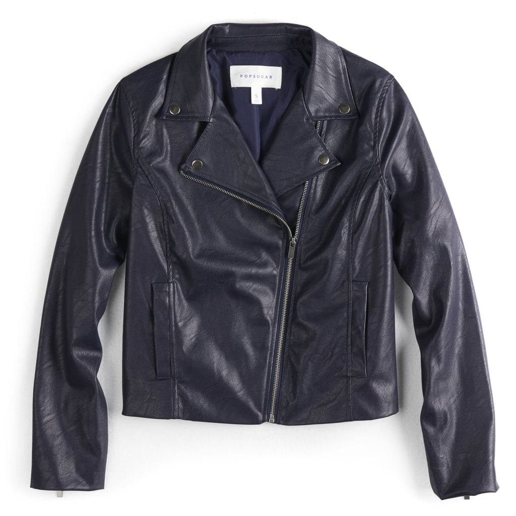 Crop Faux-Leather Moto Jacket