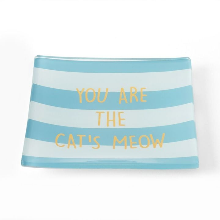 "LC Lauren Conrad ""Cat's Meow"" Glass Trinket Tray ($18)"