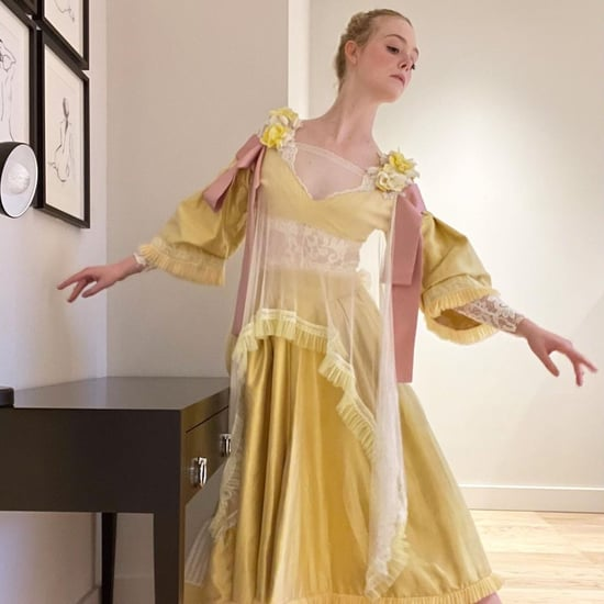 Elle Fanning's Yellow Bora Aksu Dress For The Great Press
