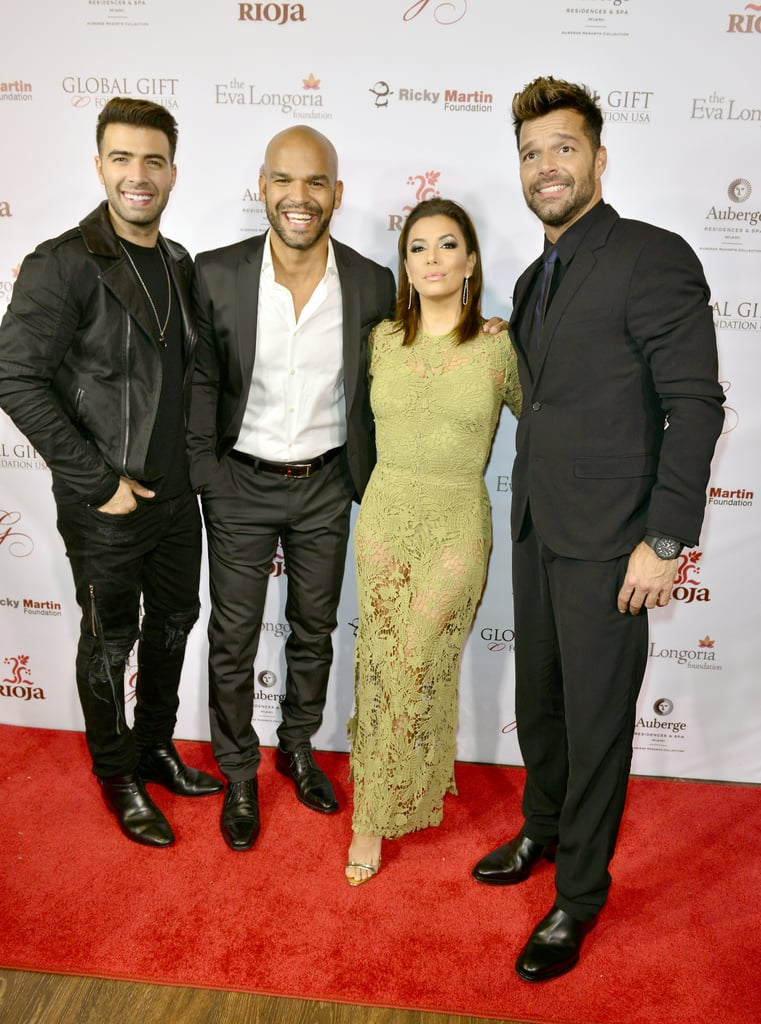 85bea1d5ff2 Eva Longoria and Ricky Martin at the 2015 Global Gift Dinner ...