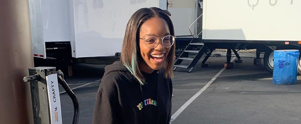 Marsai Martin Dip-Dyed Her Hair Blue, and It Looks So Cute