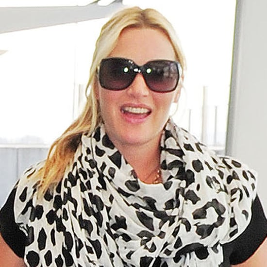 Kate Winslet Pregnant at Heathrow Airport | Pictures
