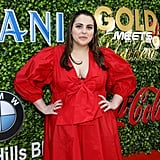 Beanie Feldstein at the 2020 Gold Meets Golden Party in LA