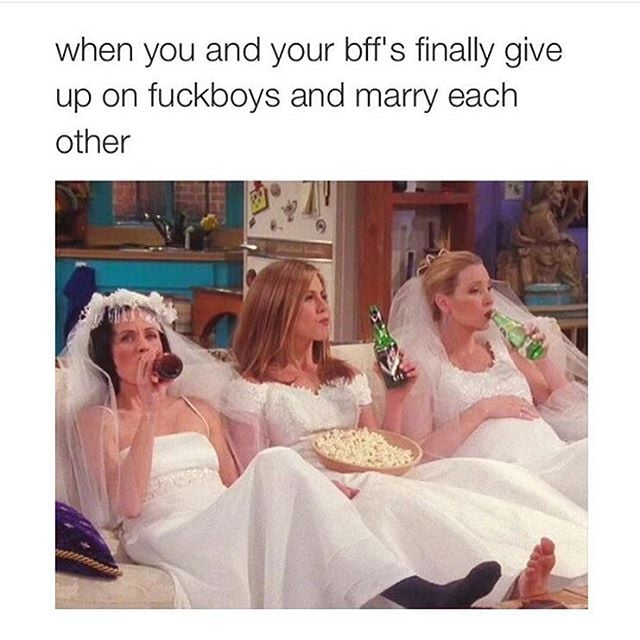 When you realise your BFF is your true soulmate.