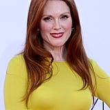 Julianne Moore wore a yellow gown to the Emmy Awards.
