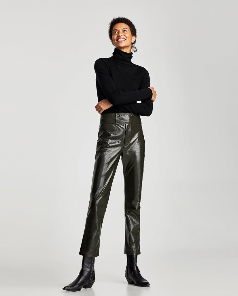 Zara Limited Edition Vinyl Trousers