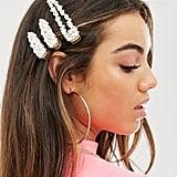 ASOS Design Pearl Hair Clip Set