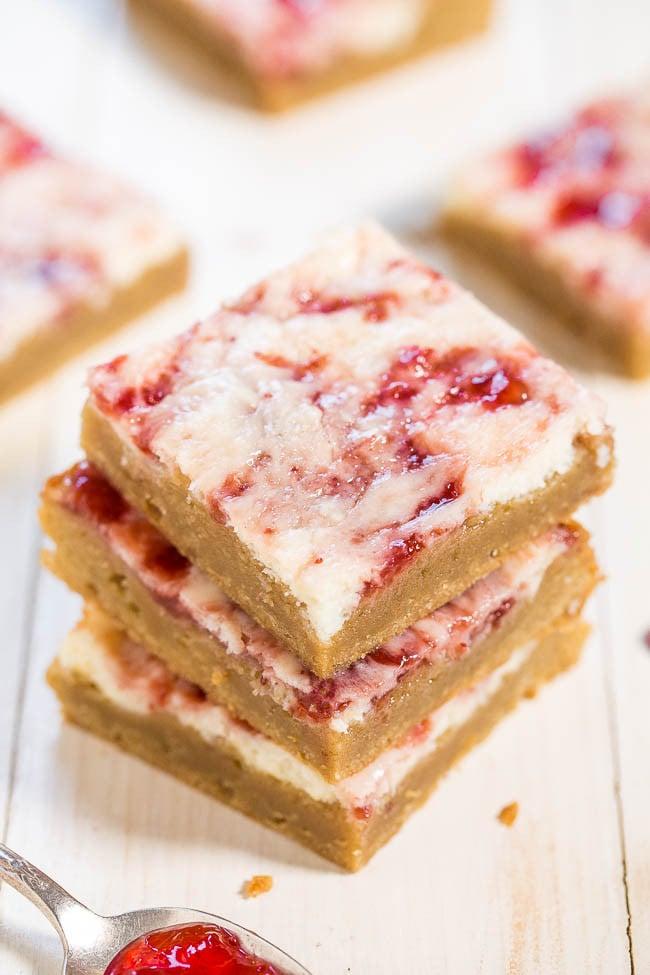 Strawberry Cheesecake Bars | 35 Gorgeous Strawberry Desserts You Need ...